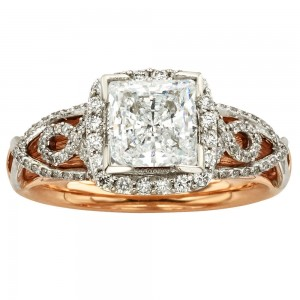 Gold 1 1/2ct TDW IGL Certified Vintage Diamond Ring - Custom Made By Yaffie™