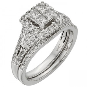 White Gold 1ct TDW IGL Certified Princess-cut Diamond Ring - Custom Made By Yaffie™