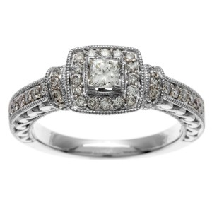 White Gold IGL Certified 3/4ct TDW IGL Certified Diamond Engagement Ring - Custom Made By Yaffie™