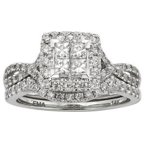 White Gold IGL Certified 7/8ct TDW Princess-cut Diamond Ring - Custom Made By Yaffie™