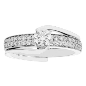 White Gold 0.75-carat TDW H-I I2-I3 Bridal Insert Set - Custom Made By Yaffie™