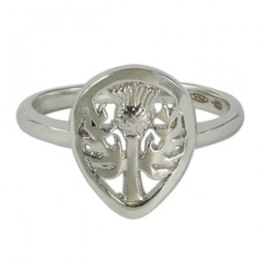 Sterling Silver Thistle Ring - Custom Made By Yaffie™