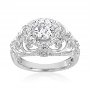 White Gold 1 1/4ct TDW Diamond Engagement Ring - Custom Made By Yaffie™