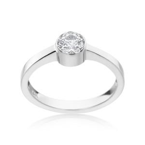 White Gold 3/5ct TDW Bezel-set Diamond Ring - Custom Made By Yaffie™
