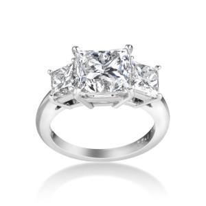 Platinum 5.92ct TDW Certified Diamond Engagement Ring - Custom Made By Yaffie™