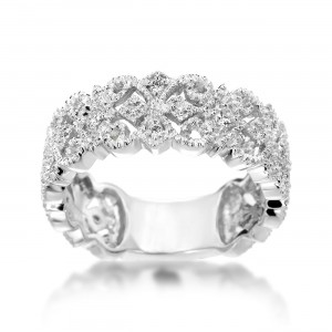 Vintage White Gold 1/ 4ct TDW Diamond Ring - Custom Made By Yaffie™