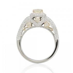Two-Tone Gold Yellow Diamond Designer Ring - Custom Made By Yaffie™