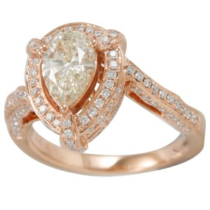 Rose Gold 1 7/8ct TDW Natural Yellow Diamond Ring - Custom Made By Yaffie™