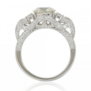 Limited Edition White Diamond French Filigree Pave Ring - Custom Made By Yaffie™
