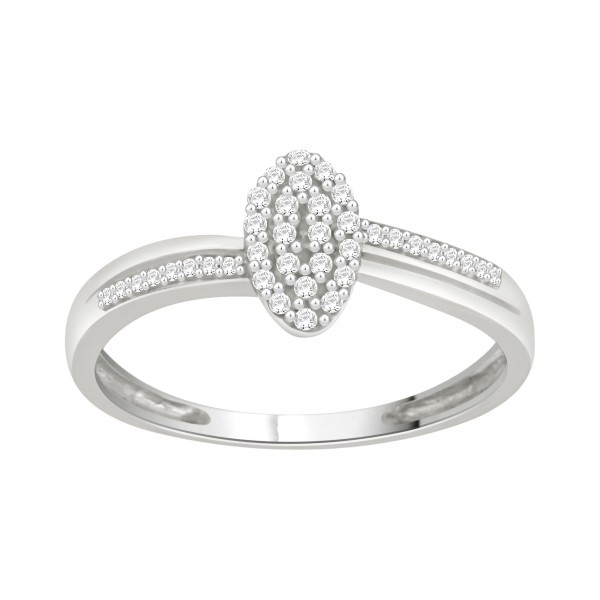 White Gold 1/6ct TDW Diamond Cluster Engagement Ring - Custom Made By Yaffie™
