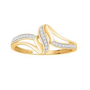 Gold Diamond Accent Cluster Engagement Ring - Custom Made By Yaffie™