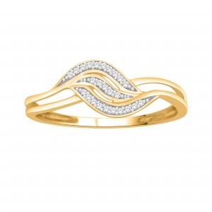 Gold over Silver Diamond Accent Heart Engagement Ring - Custom Made By Yaffie™
