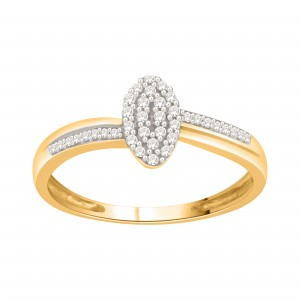 Goldplated Sterling Silver 1/6ct TDW Diamond Cluster Engagement Ring - Custom Made By Yaffie™