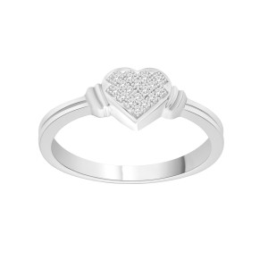 S925 Sterling Silver Diamond Accent Engagement Ring - Custom Made By Yaffie™
