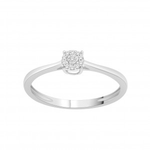 Sterling Silver 1/10ct TDW Diamond Cluster Bypass Promise Ring - Custom Made By Yaffie™