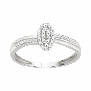 Sterling Silver 1/6ct TDW Diamond Cluster Engagement Ring - Custom Made By Yaffie™