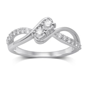 White Gold Diamond Ring - Custom Made By Yaffie™