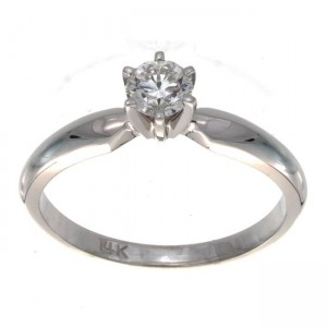 Gold 1/3ct TDW Certified Diamond Engagement Ring - Custom Made By Yaffie™