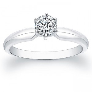 White Gold 1/2ct TDW Certified Diamond Solitaire Engagement Ring - Custom Made By Yaffie™