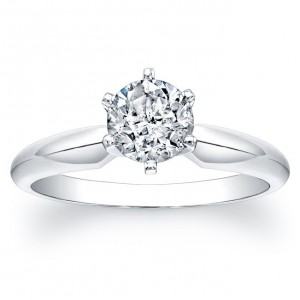 White Gold 1ct TDW Certified Diamond Engagement Solitaire Ring - Custom Made By Yaffie™