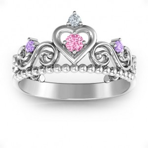Personalised Princess Charming Tiara Ring - Custom Made By Yaffie™