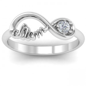 Personalised Mom's Infinity Bond Ring with Birthstone - Custom Made By Yaffie™