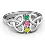 Personalised Sláine Celtic Knot Ring - Custom Made By Yaffie™