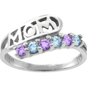 Personalised Cherish MOM Cutout 26 Stones Ring - Custom Made By Yaffie™