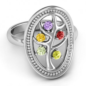 Personalised Organic Tree of Life Ring - Custom Made By Yaffie™