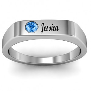 Personalised Soliloquy Stone and Name Ring - Custom Made By Yaffie™