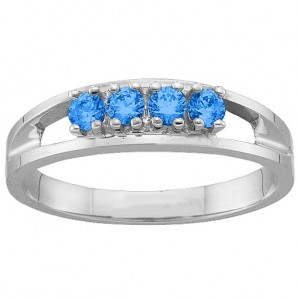 Personalised 16 Gemstone Ring - Custom Made By Yaffie™