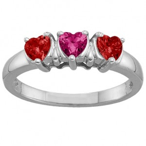 Personalised 25 Hearts Ring - Custom Made By Yaffie™