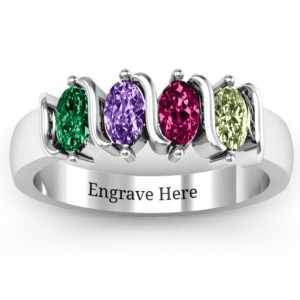 Personalised 25 Oval Stones Ring - Custom Made By Yaffie™