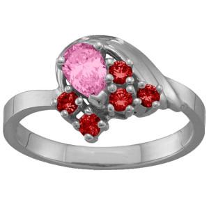 Personalised 39 Stones Swan Ring - Custom Made By Yaffie™