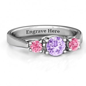 Personalised 3Stone Graduated Ring - Custom Made By Yaffie™