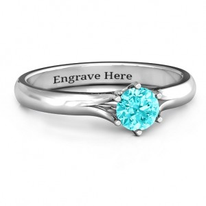 Personalised 6 Prong Solitaire Ring - Custom Made By Yaffie™