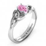 Personalised Trinity Knot Oval Engagement Ring with White Topaz Stone - Custom Made By Yaffie™