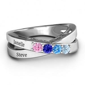Personalised Across My Heart 4Stone Ring - Custom Made By Yaffie™