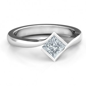 Personalised Alexandra Princess Cut Ring - Custom Made By Yaffie™