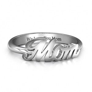 Personalised All About Mom Name Ring - Custom Made By Yaffie™