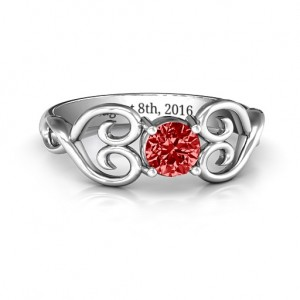 Personalised Always In My Heart Promise Ring - Custom Made By Yaffie™