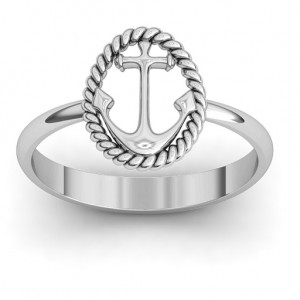 Personalised Anchor Ring - Custom Made By Yaffie™