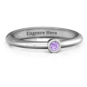 Personalised Beloved Classic Bezel Set Ring - Custom Made By Yaffie™