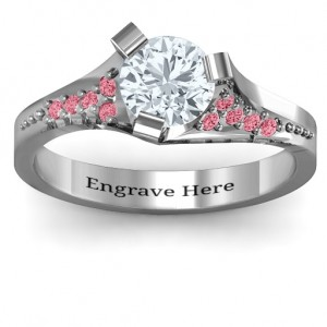 Personalised Beloved TriSet Ring with Accents - Custom Made By Yaffie™