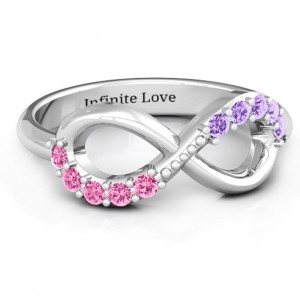Personalised Birthstone Infinity Accent Ring - Custom Made By Yaffie™