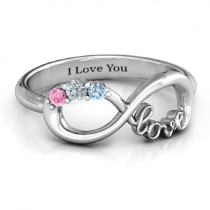 Personalised Birthstone Infinity Love Ring - Custom Made By Yaffie™