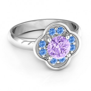 Personalised Blossoming Love Engagement Ring - Custom Made By Yaffie™