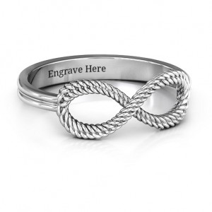 Personalised Braided Infinity Ring - Custom Made By Yaffie™