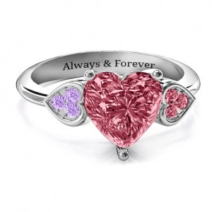 Personalised Brilliant Love Accented Heart Ring - Custom Made By Yaffie™