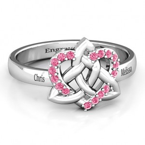 Personalised Celtic Heart Ring - Custom Made By Yaffie™